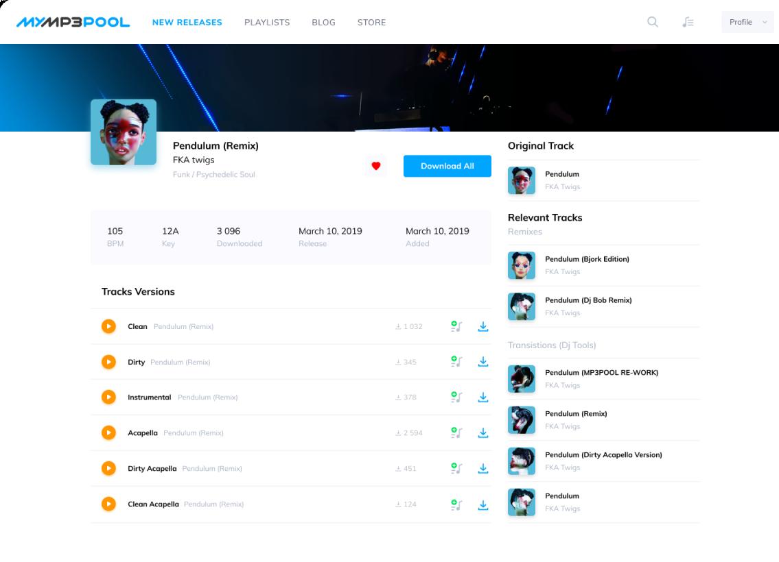 UI Track Page