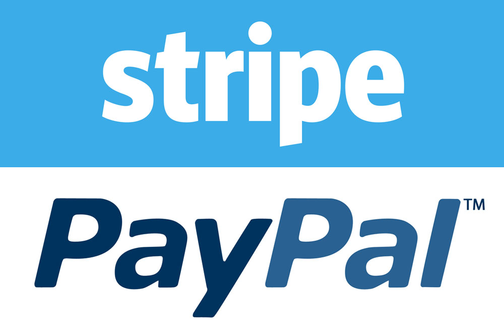 PayPal + Stripe = our winning combination