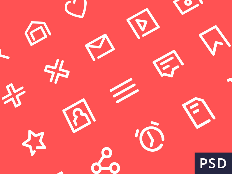 the PSD free vector icon set