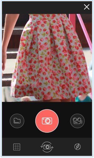 The filters for photos and the in-app camera can't be developed in a hybrid app - in the native one only