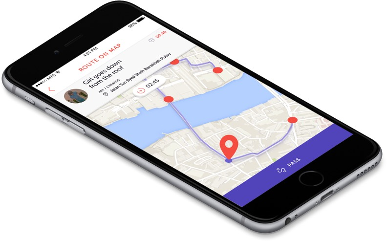 TapToTrip allows you to build your own route from the points on the map