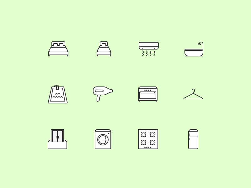 facility icons for our common project with the top property provider on the South-Asian market