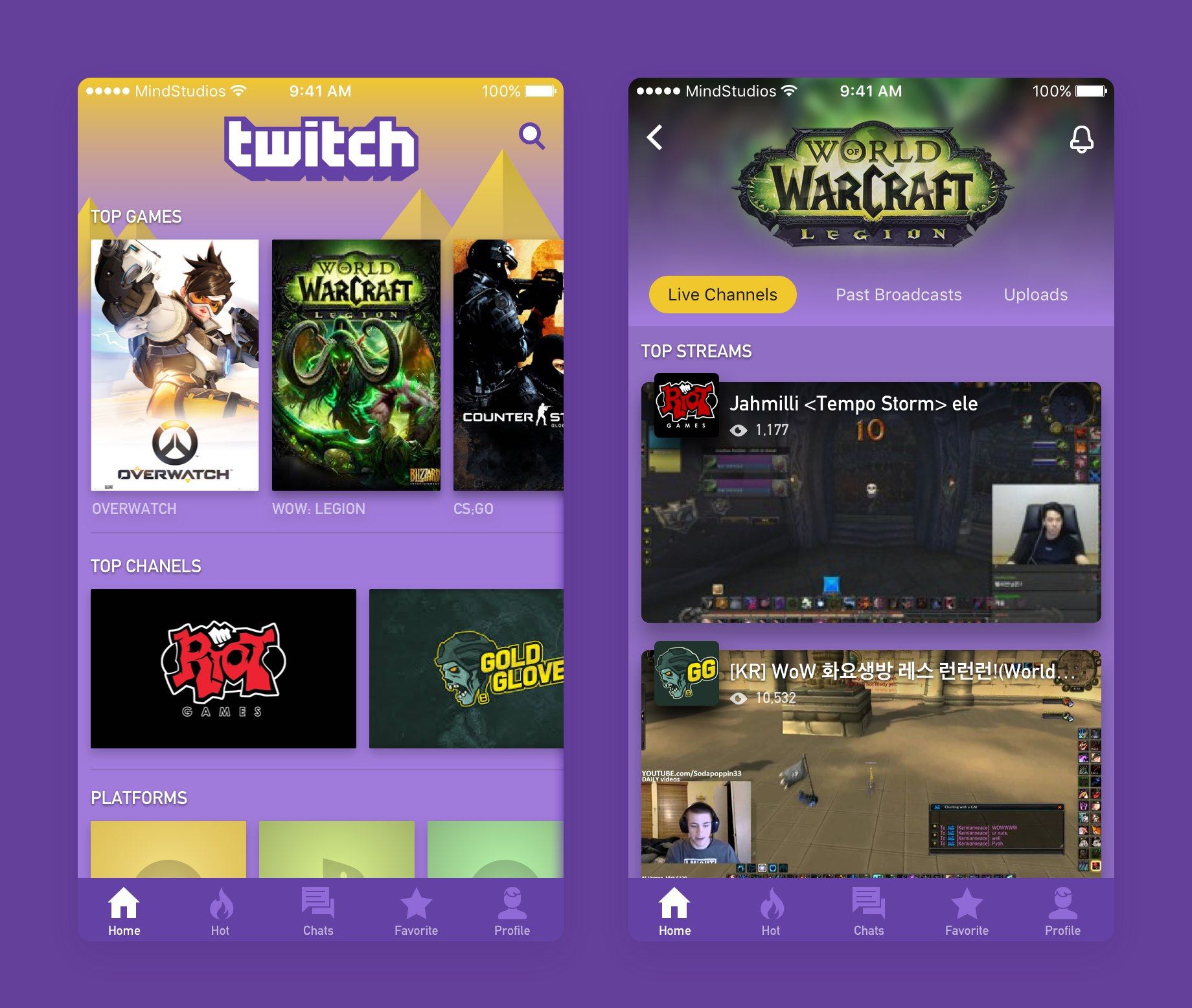 Twitch.tv re-designed concept