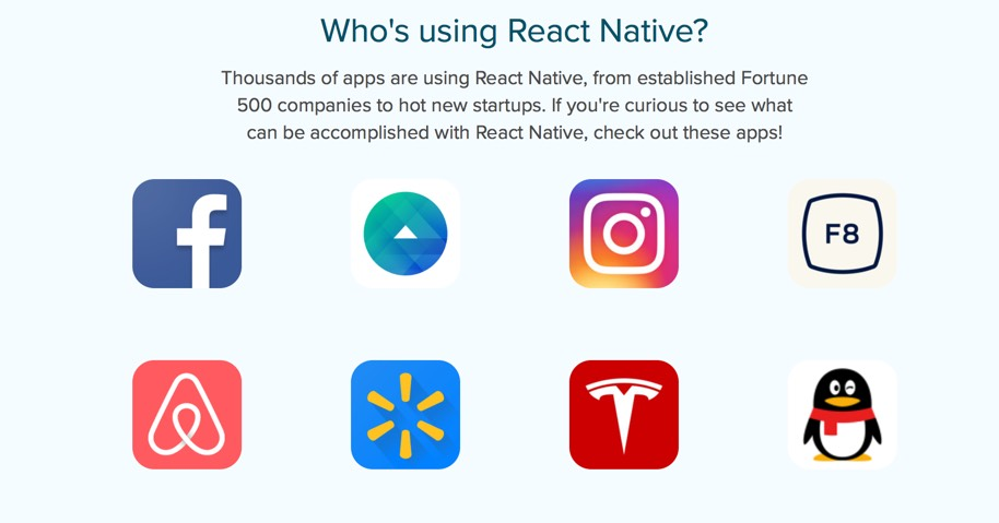 apps built on react native