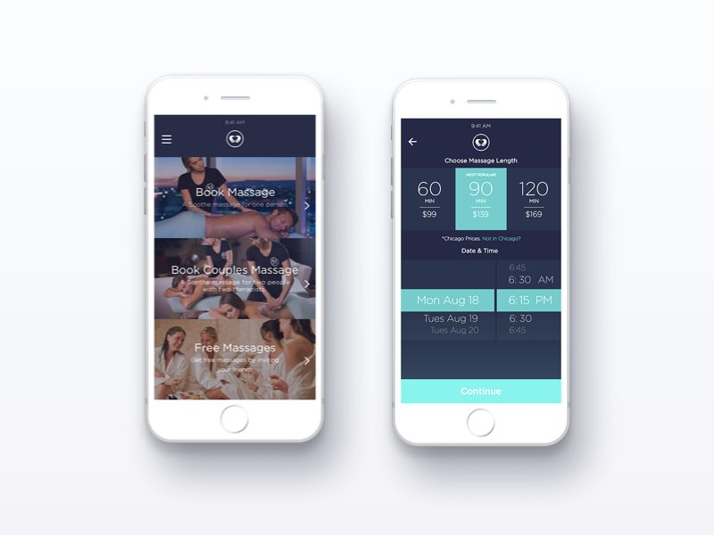 Soothe massage on demand app
