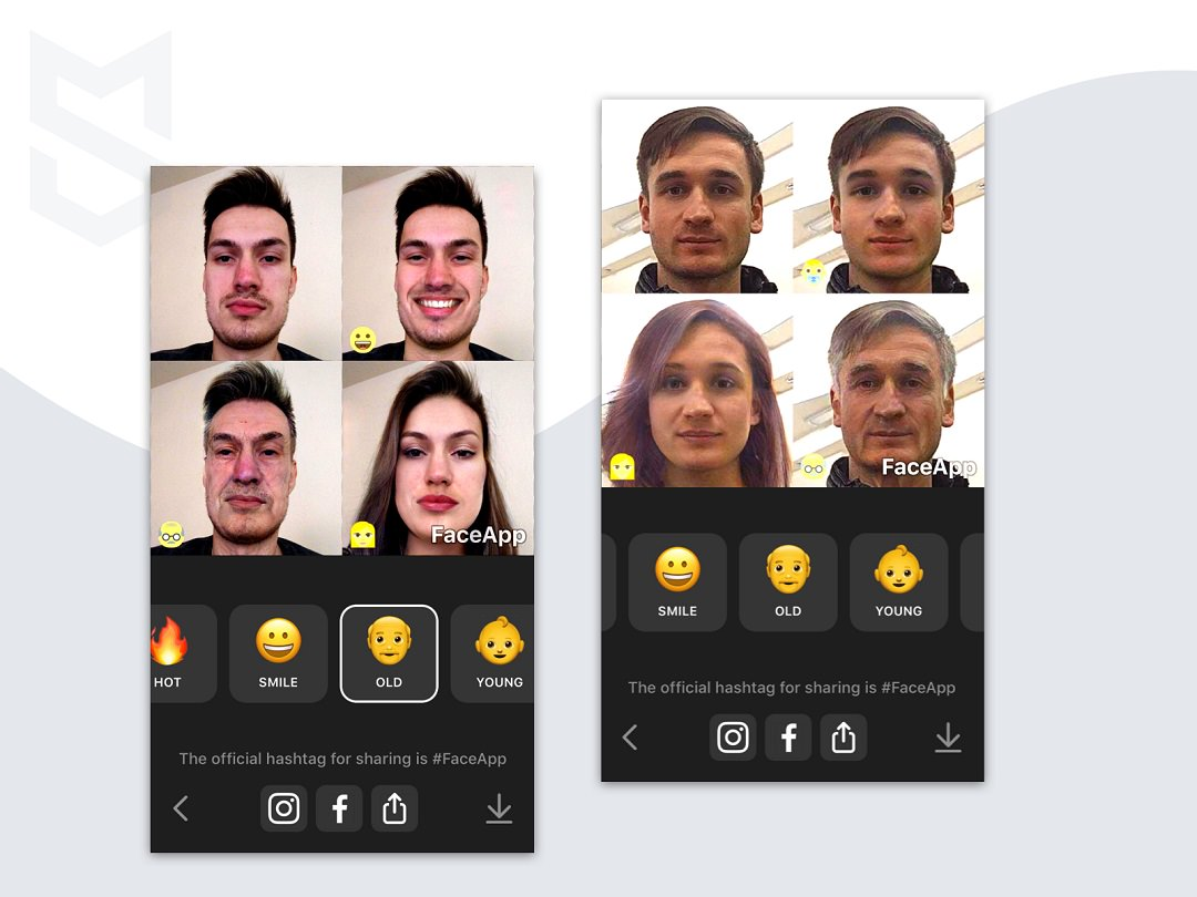 AR mobile app Faceapp