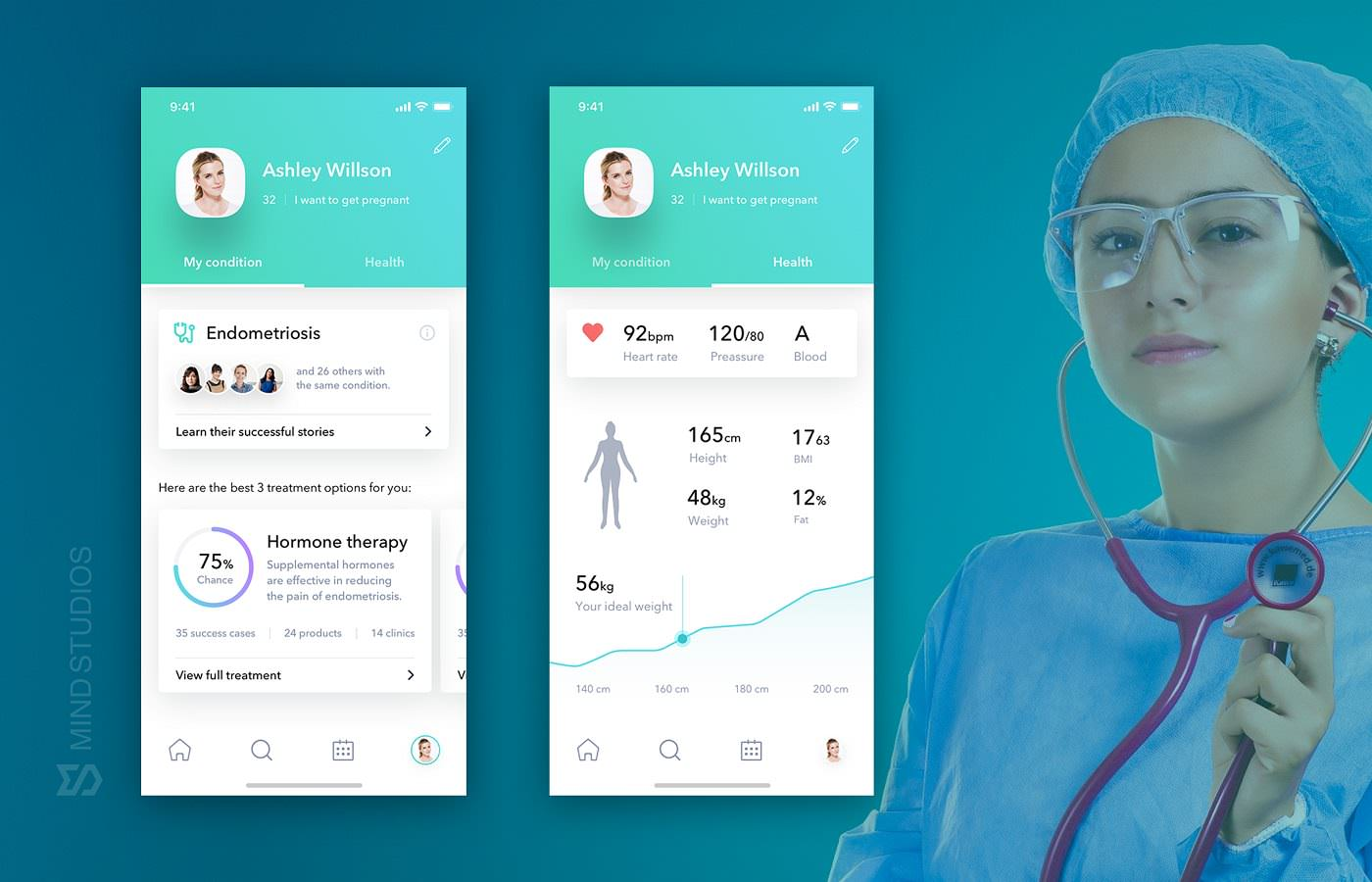 Electronic health record app concept
