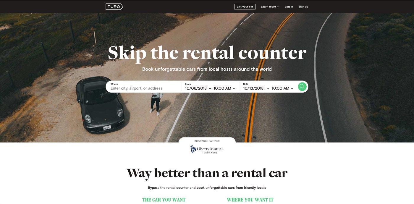 Turo car rental app