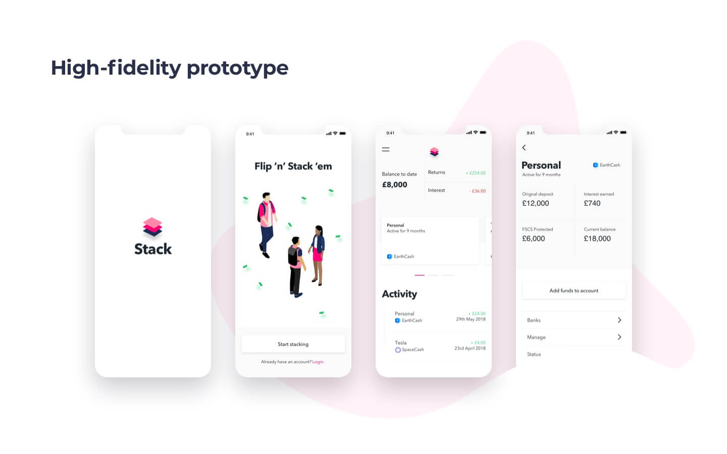 high-fidelity prototype in app development process
