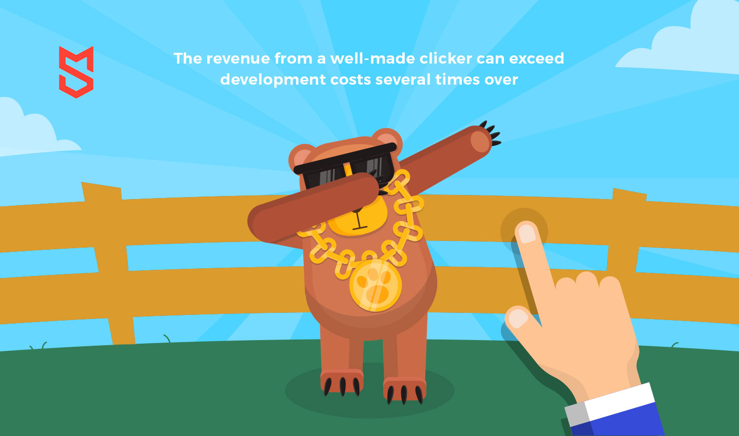 The revenue from a well-made clicker can exceed development costs several times over