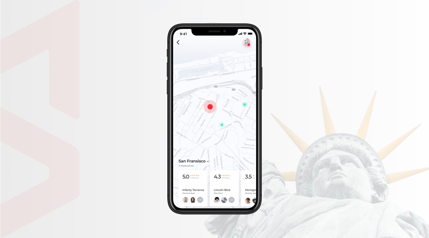 Geolocation for restaurant app
