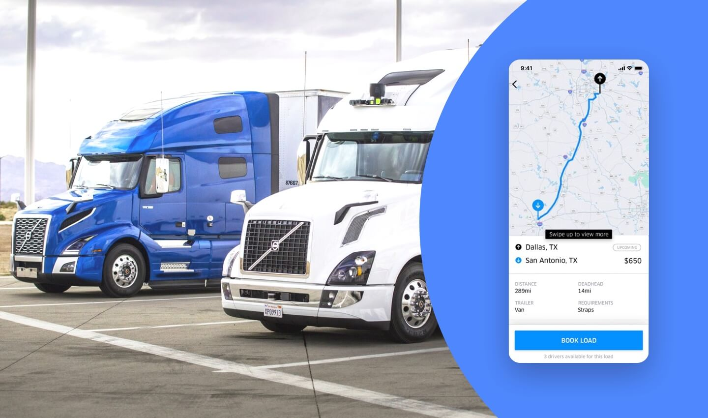 Features an Uber for truckers app needs