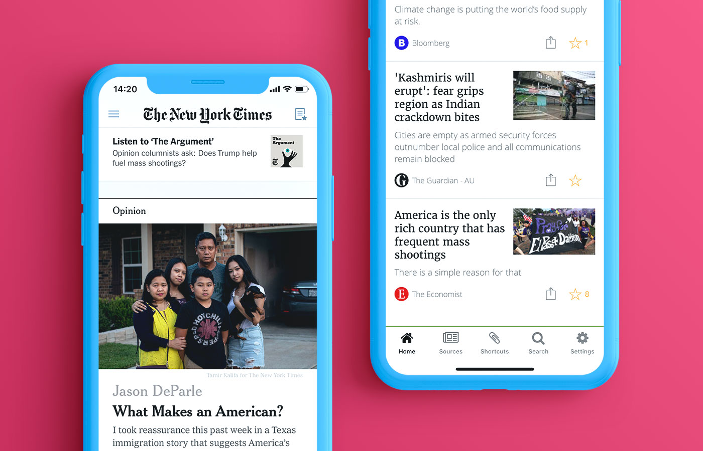 #Features a native news aggregator app