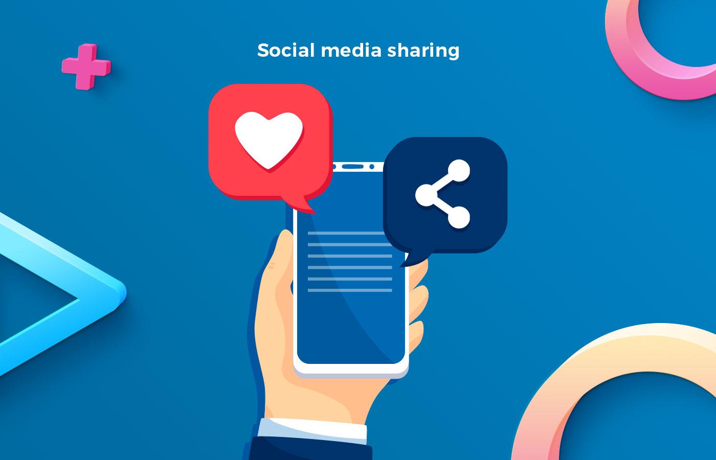 Social media sharing for news mobile app