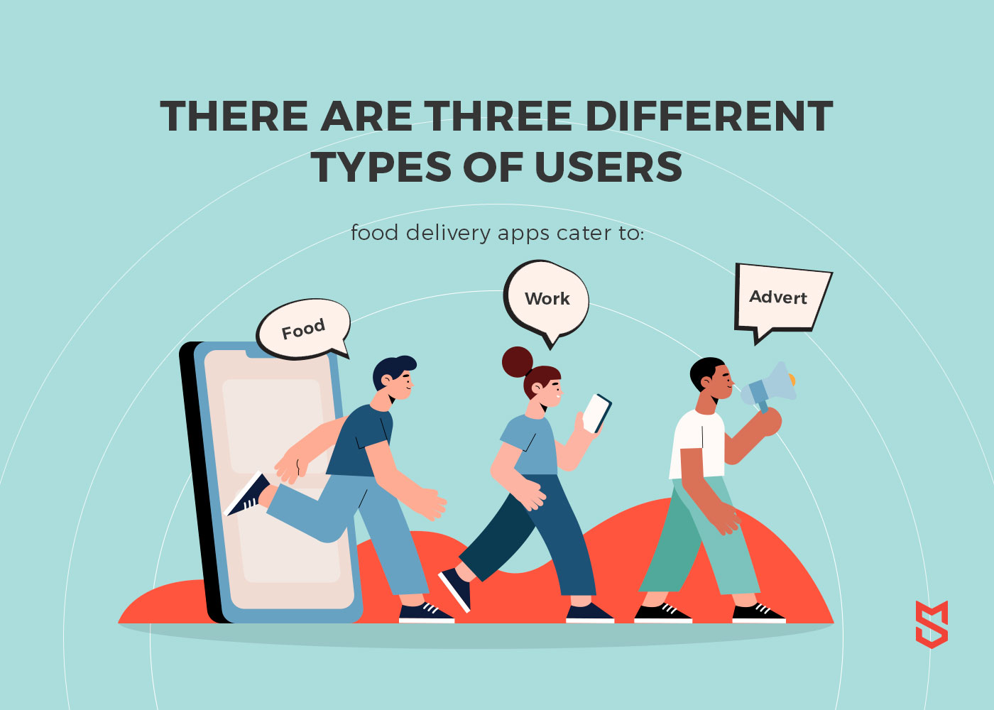 types of users food delivery apps