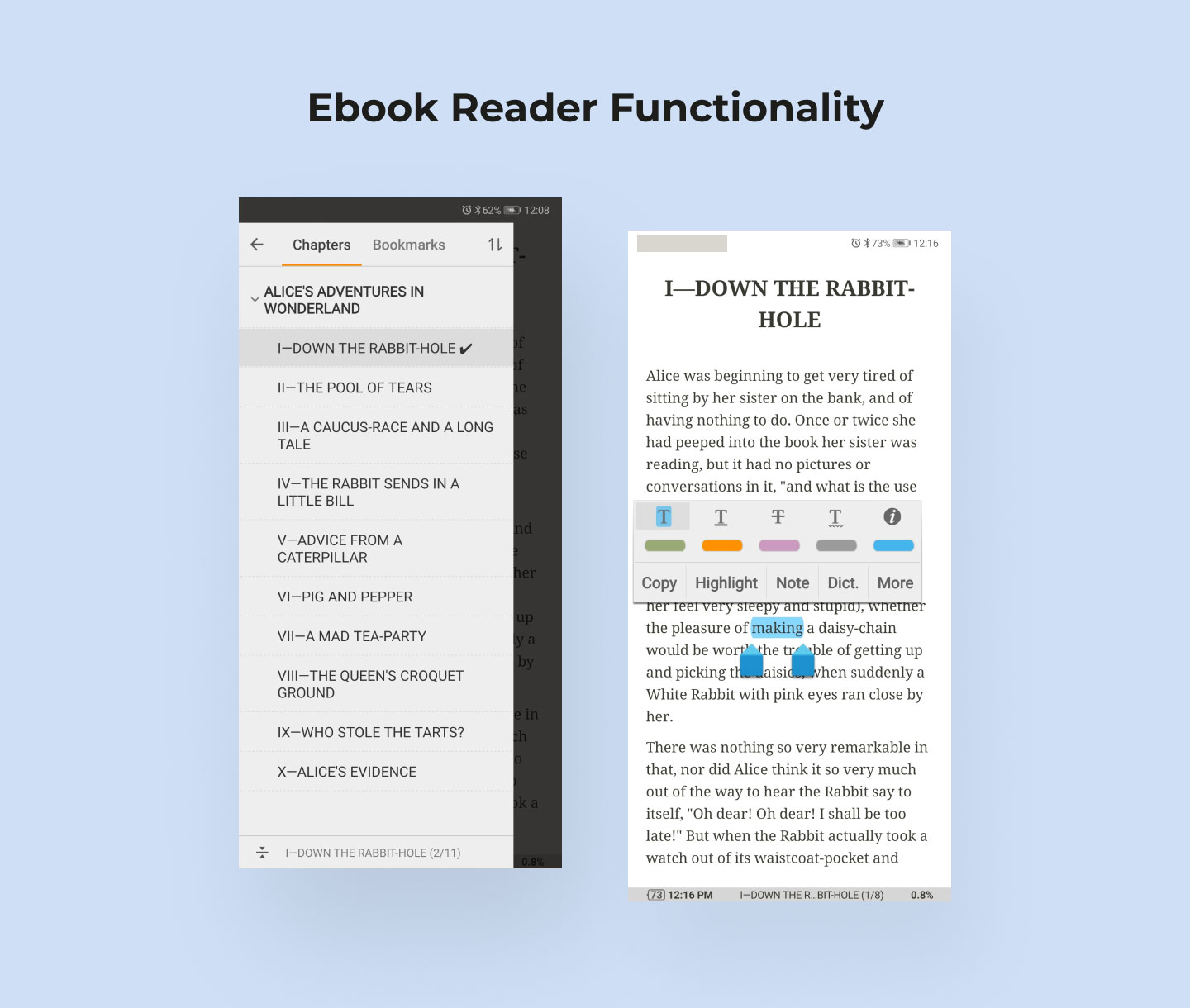 Features to have in a bookstore's eReader app
