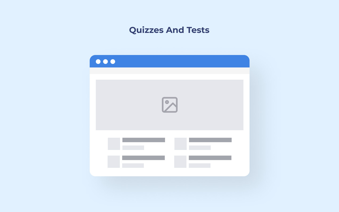 Quizzes and tests for LMS