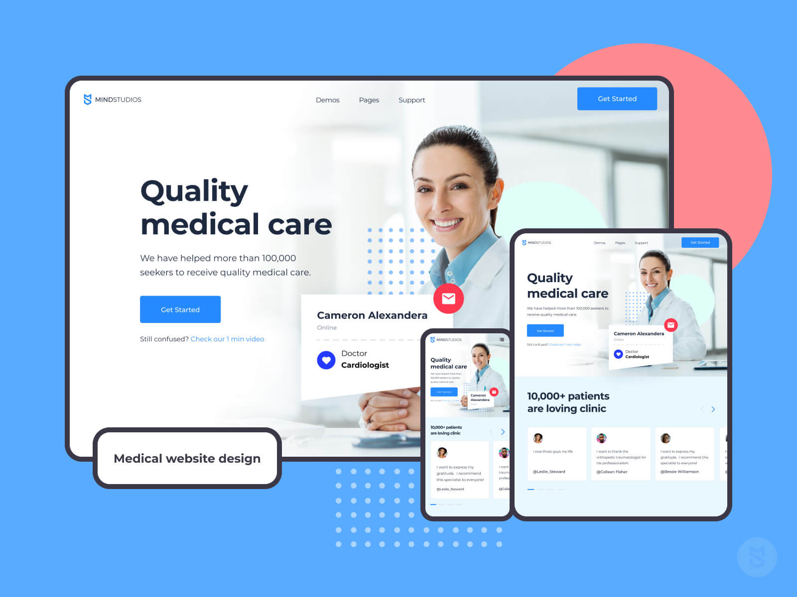 Medical website design examples