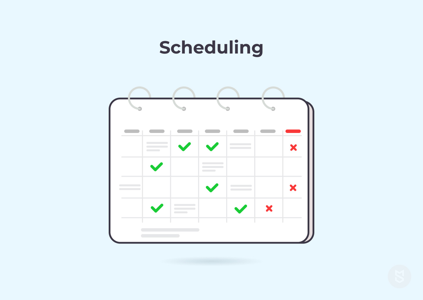 Scheduling for medical website