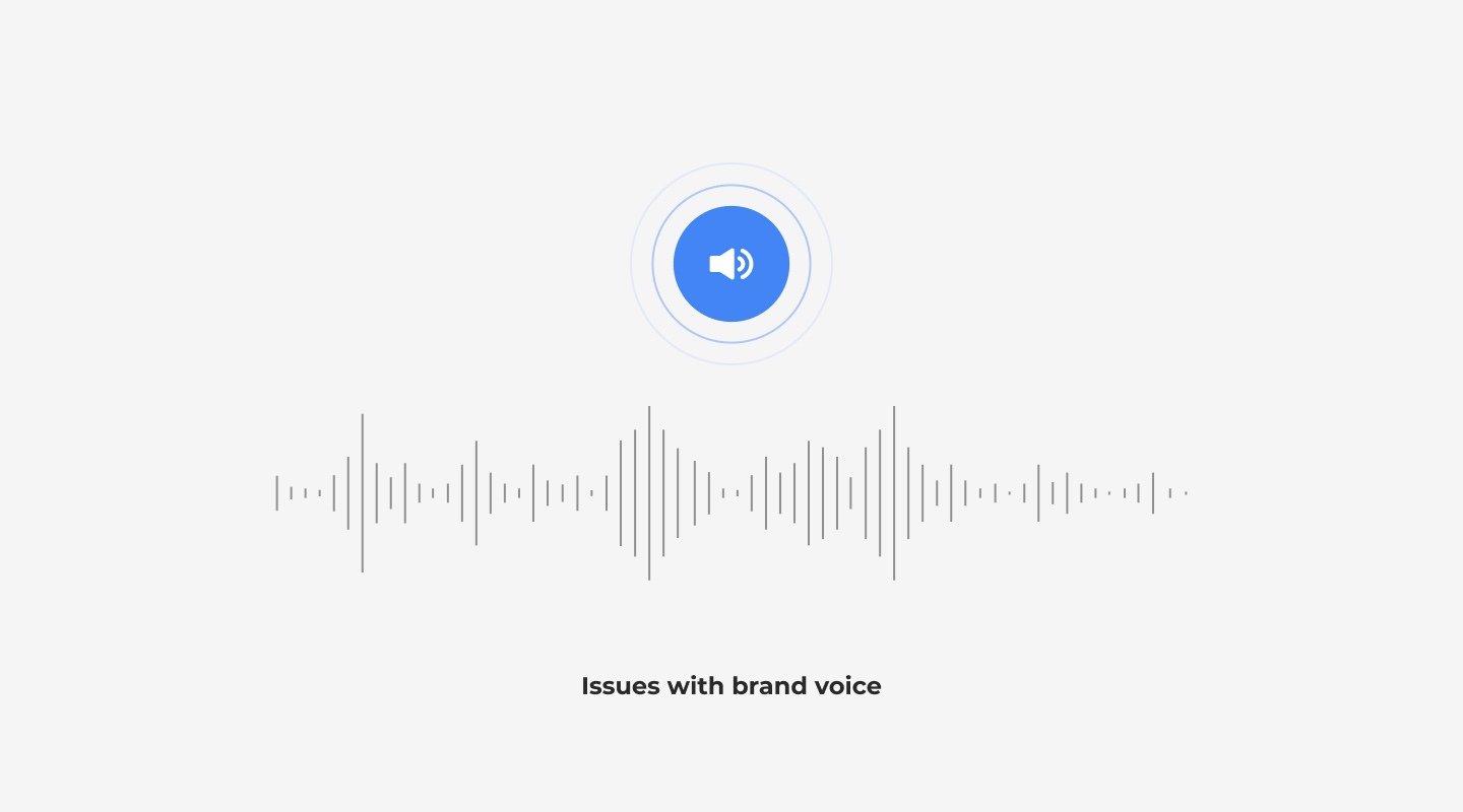 Issues with brand voice