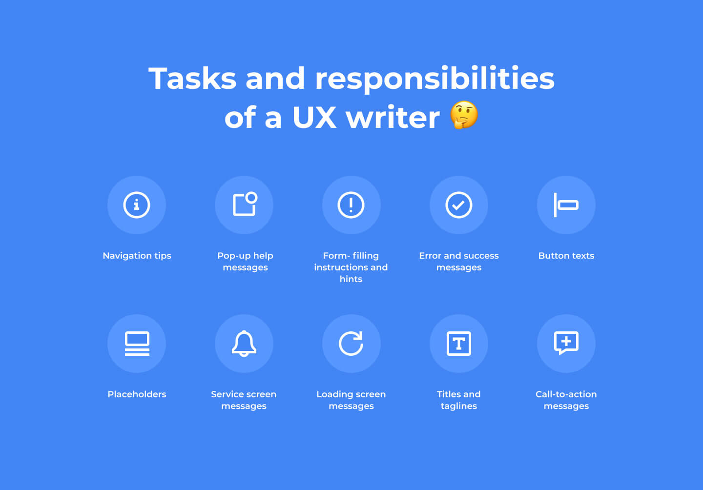 responsibilities of a UX writer
