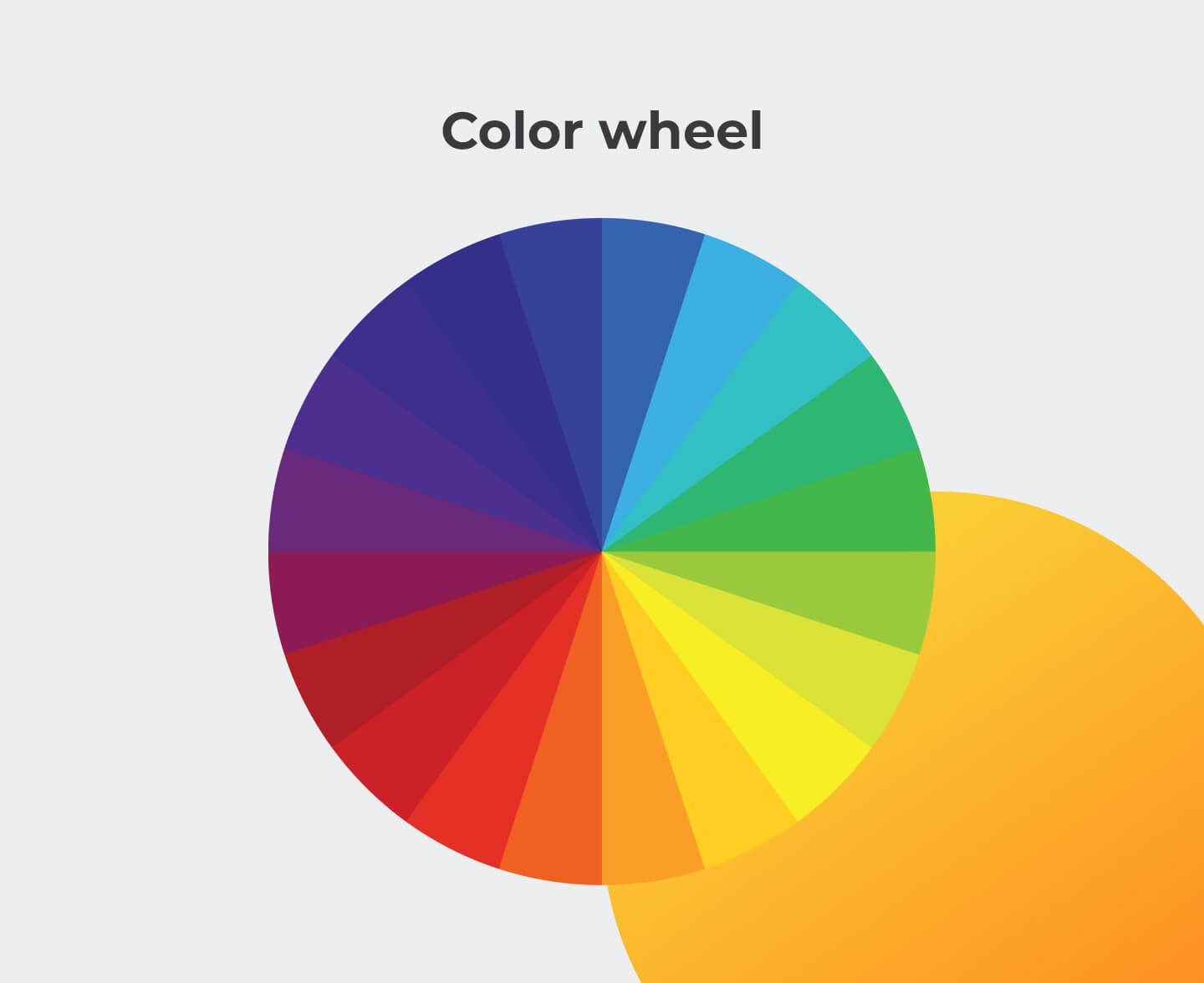 Visual design colors