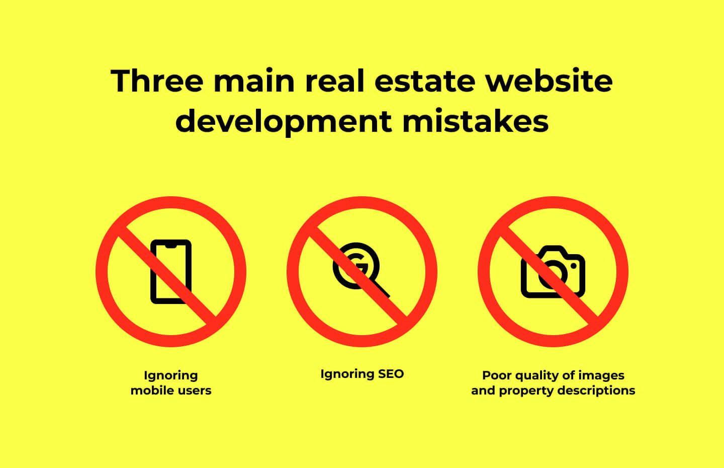 real estate website development mistakes
