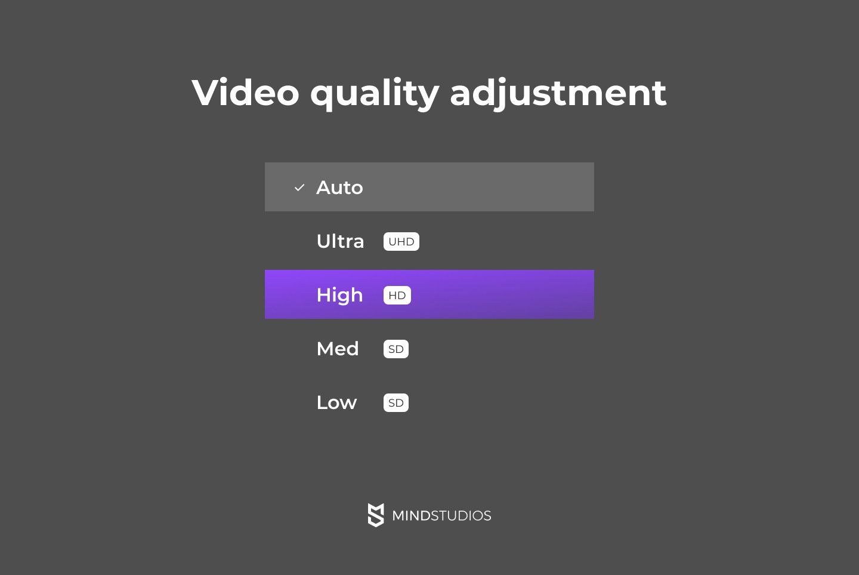 Video quality adjustment