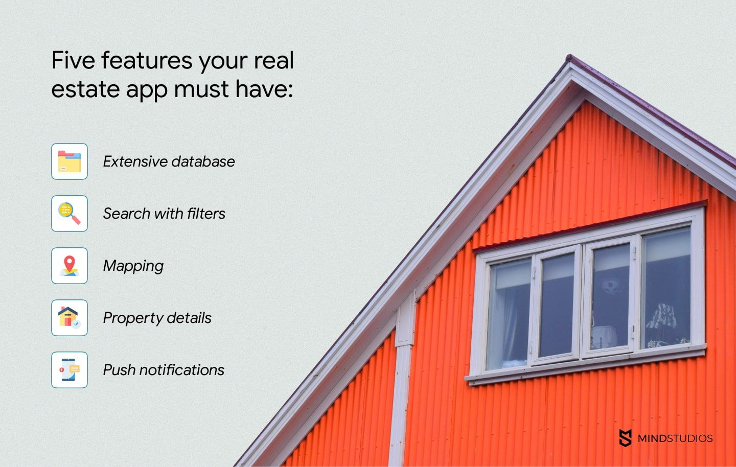 5 features for real estate app development