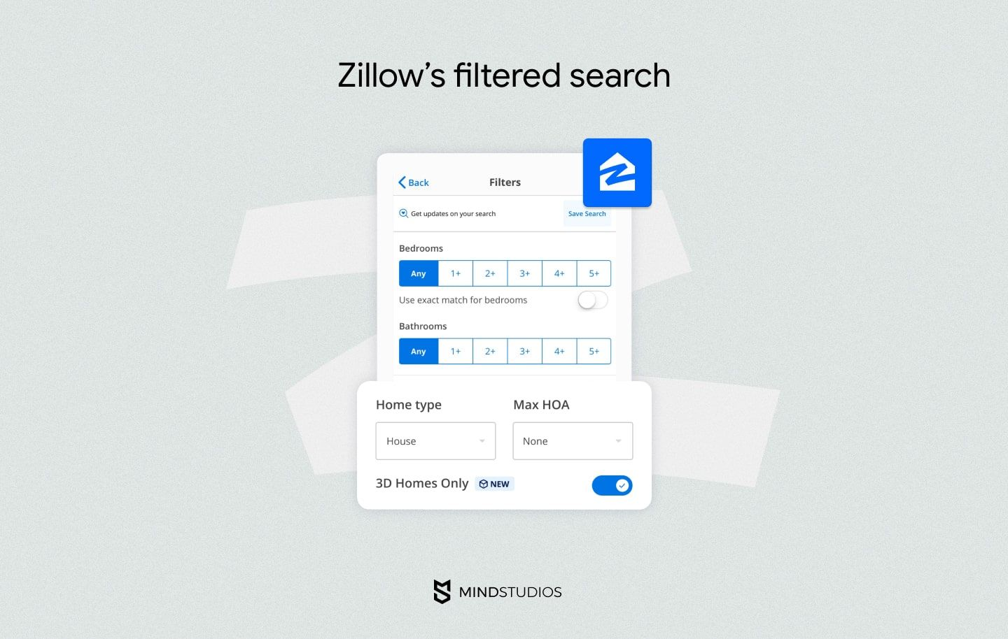 Zillow's filtered search
