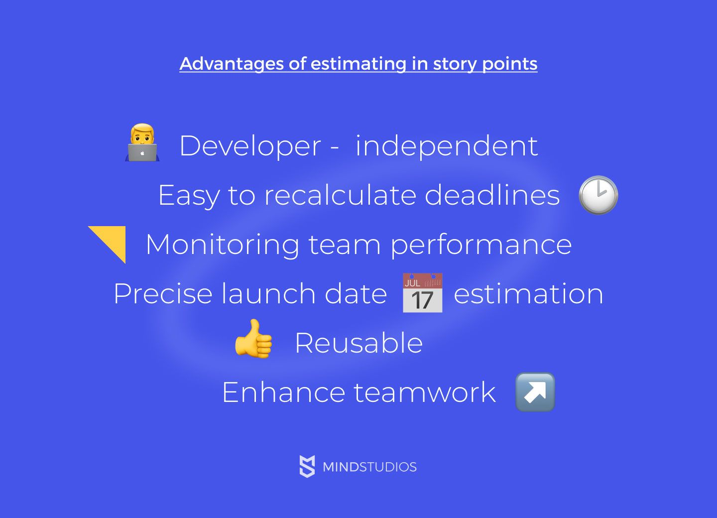Advantages of estimating in story points