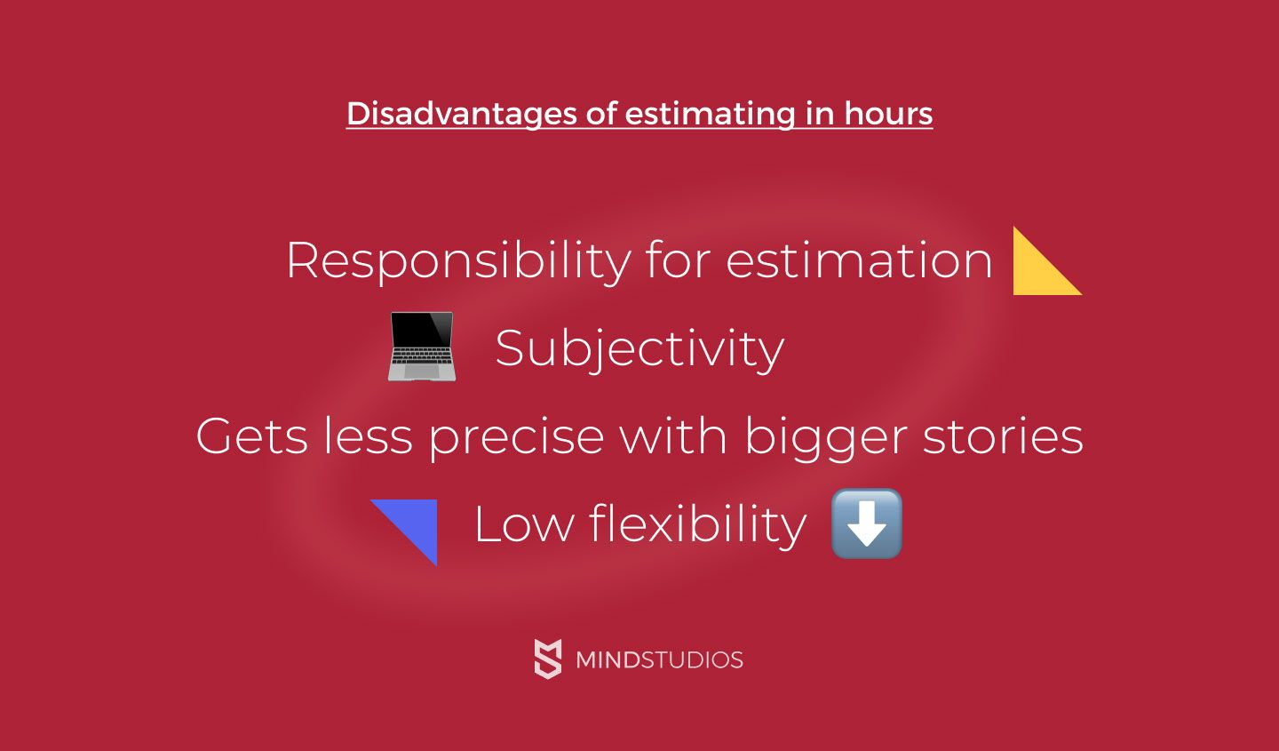 Disadvantages of estimating in hours