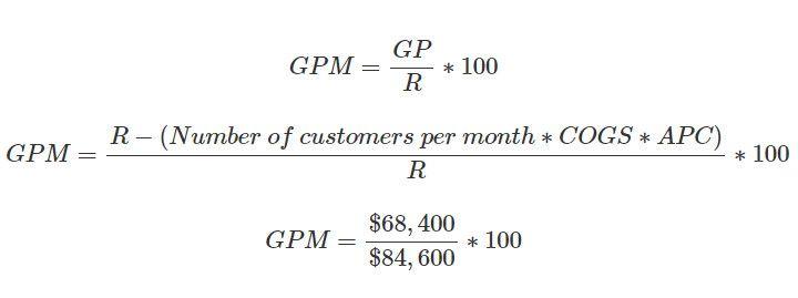 GPM calculation formula