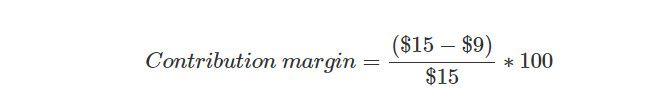 contribution margin example