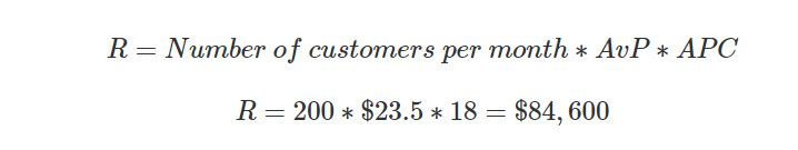 revenue calculation formula
